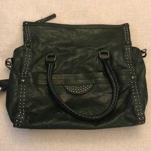 Diane von Furstenberg Green Leather Satchel